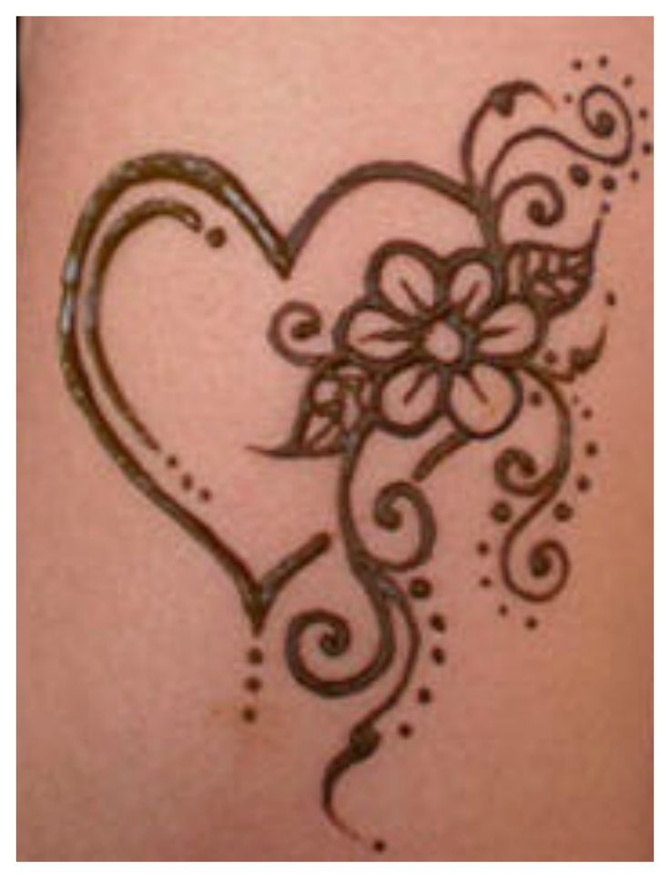 Love In Shape Of Heart Tattoo