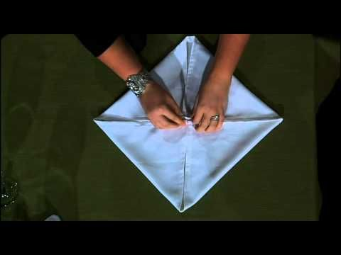 Another great linen napkin folding technique  Rose Fold