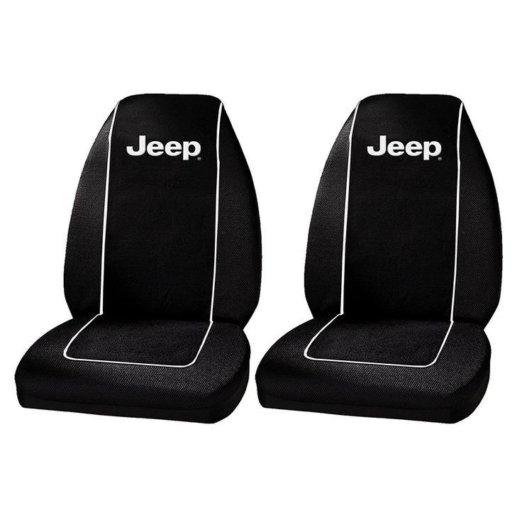 Unique Plasticolor 6563R01 Jeep Logo Front Bucket Seat Covers One Pair (Color)
