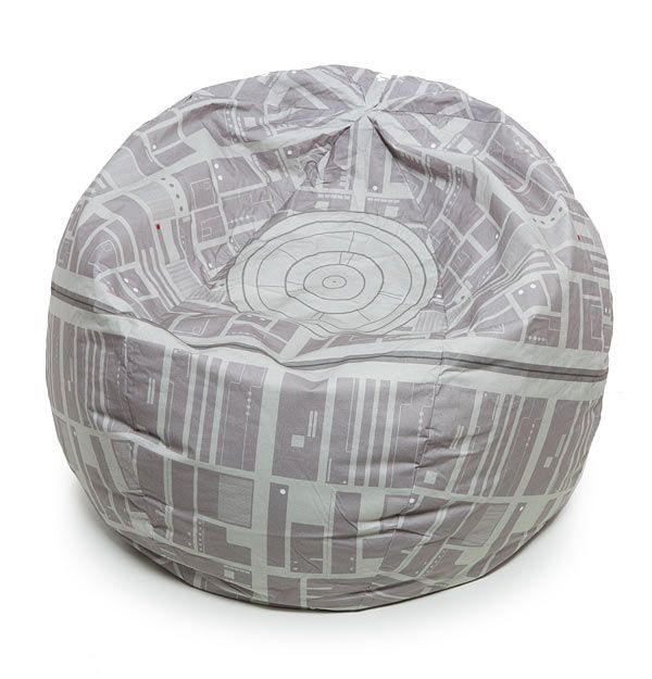 Death Star Bean Bag Cover Rests The Fate Of Alderaan On Your Ass  #decor #dorm #starwars You have to be draggin' one serious wagon to crush the Death Star with your forest moon of Endor. The Twerk is strong with this one.  This Star Wars...