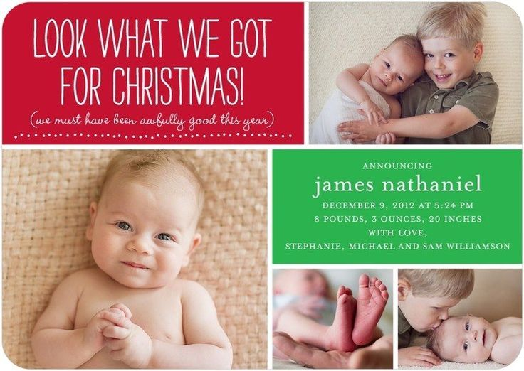 22 best Christmas Baby Announcements images – Birth Announcement Christmas Cards