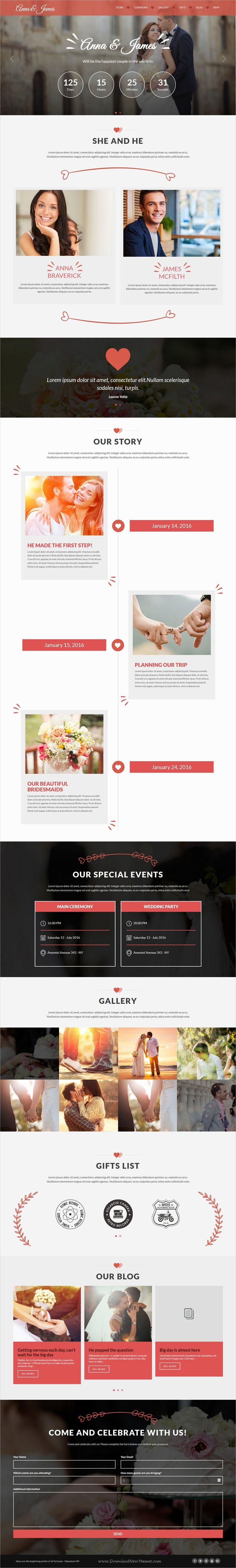 wedding invitation template themeforest%0A Amore Wedding   WordPress Theme for Weddings