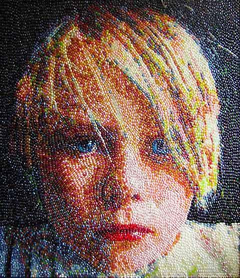 Kristen Cummings. Jelly bean art.: The Artists, Kristen Cummings, Jelly Belly, Jellybean Art, Kristen Cume, Jelly Beans, Jellybeans, Beans Art, Beans Portraits