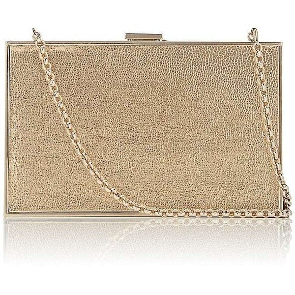 Anya Hindmarch Women's Imperial Minaudière (£525) ❤ liked on Polyvore featuring bags, handbags, clutches, brown handbags, anya hindmarch handbags, anya hindmarch purse, chain handle handbags and chain strap handbags