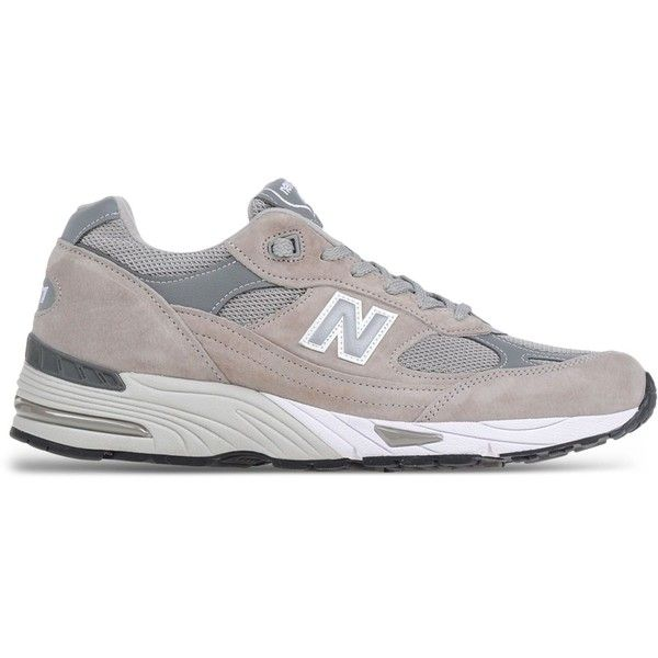 New Balance Low-Tops & Trainers (£185) ❤ liked on Polyvore featuring men's fashion, men's shoes, men's sneakers, grey, new balance mens sneakers, new balance mens shoes, mens grey shoes, mens gray dress shoes and mens grey sneakers