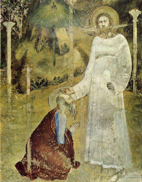 Маттео Джованнетти. Видение св. Иоанна на Патмосе. 1344-1346 гг. Капелла Иоанна…