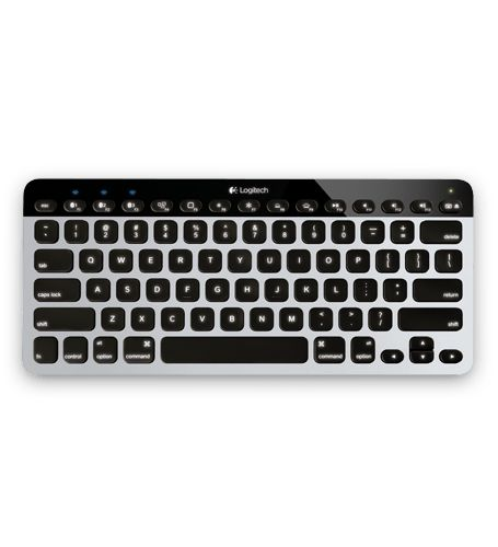 Illuminated, wireless keyboard features Logitech Easy-Switch with Bluetooth so you can quickly switch from typing on your Mac to your iPad, iPhone or Apple TV. Learn more.