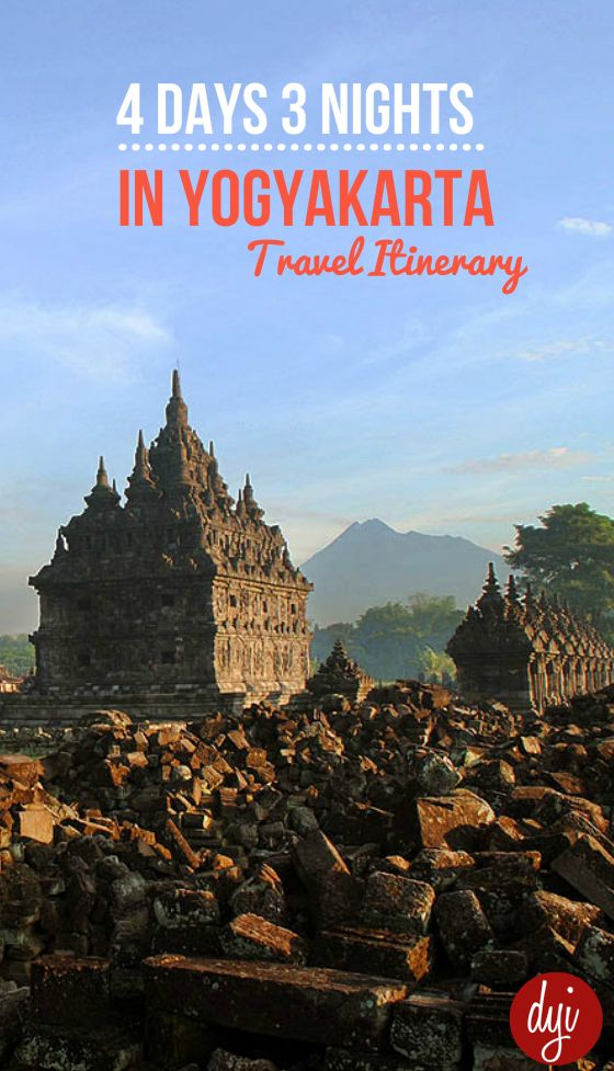 Ready to use 4 day 3 night travel itinerary for Yogyakarta. Easy inspiration for your next holiday to Indonesia.
