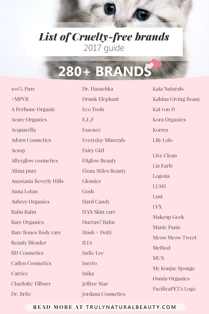 List of Cruelty-free Brands in 2017   Newest List of Cruelty-Free Brands   Cruelty-free   Cruelty-Free Makeup