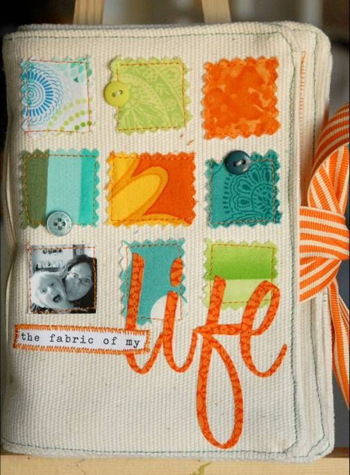fabric scrapbook