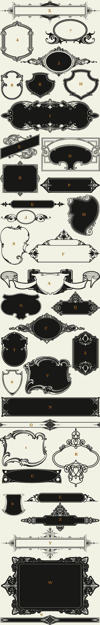 Letterhead Fonts / LHF Americana Panels / Decorative Panels