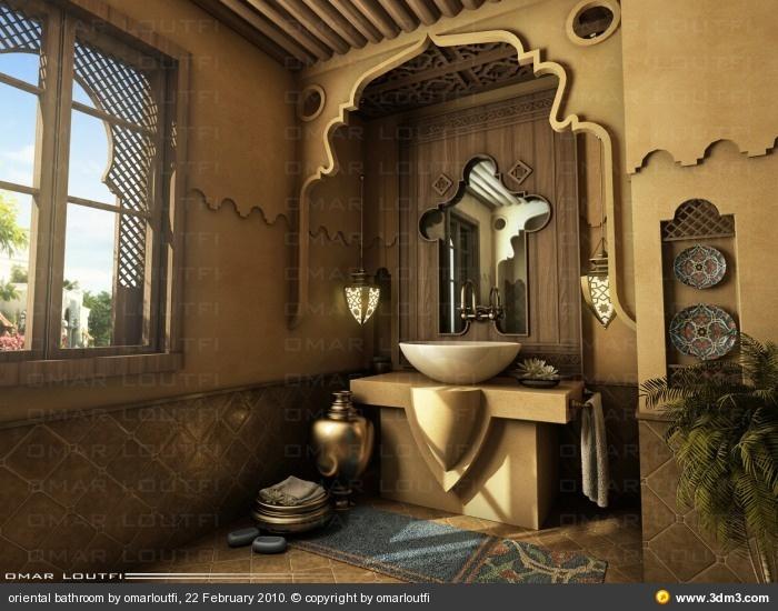 oriental bathroom by omarloutfi - Community for CG Artists
