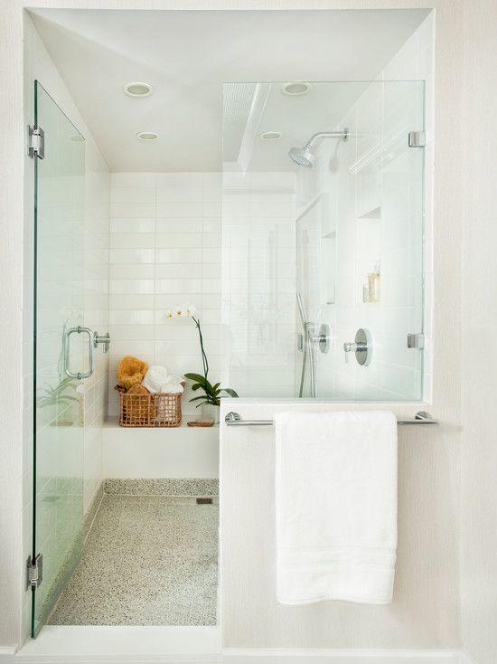 Mark williams design zen shower design bathrooms for Small bathroom zen design