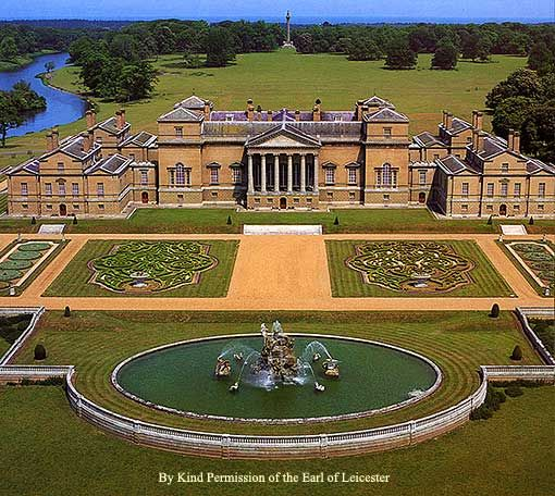 Holkham Hall, Norfolk, one of England's finest Palladian houses.