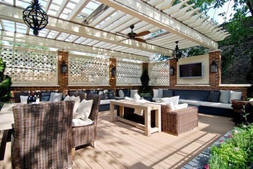 roof and lattice: Roof, Lattices, Deck Ideas, Dreams, Future, Deco, Homes, Garden, Backyard Stuff