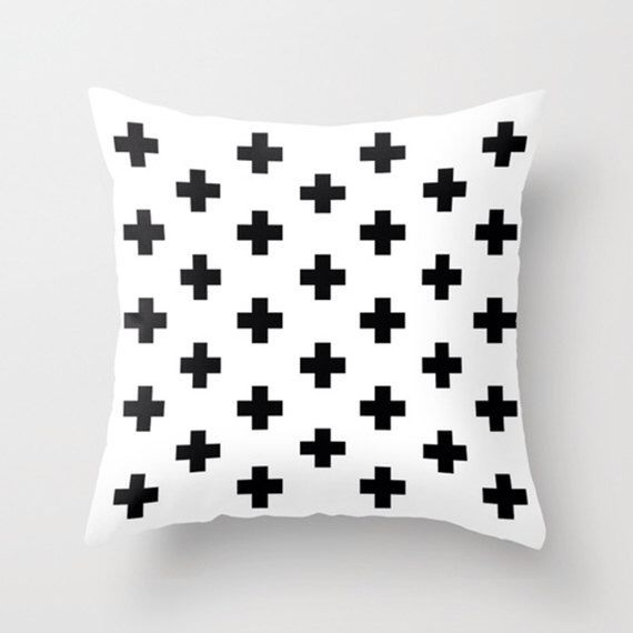 "nordic, cross, geometric, geometric print, geometric cushion, black and white print, black and white, 16"" x 16"", 18"" x 18"" or 20"" x 20"" by GorgeousGD on Etsy https://www.etsy.com/listing/250177190/nordic-cross-geometric-geometric-print"
