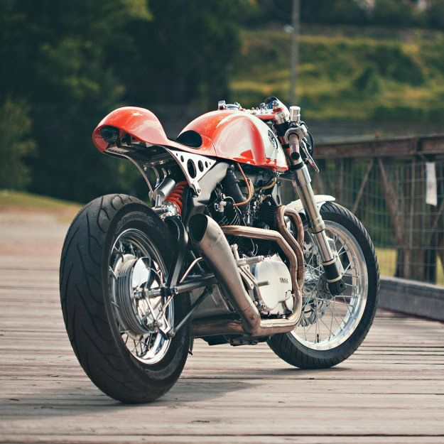 Ultra-clean custom Yamaha XV 750 by Christian Moretti of Plan B Motorcycles. Click to read the story behind