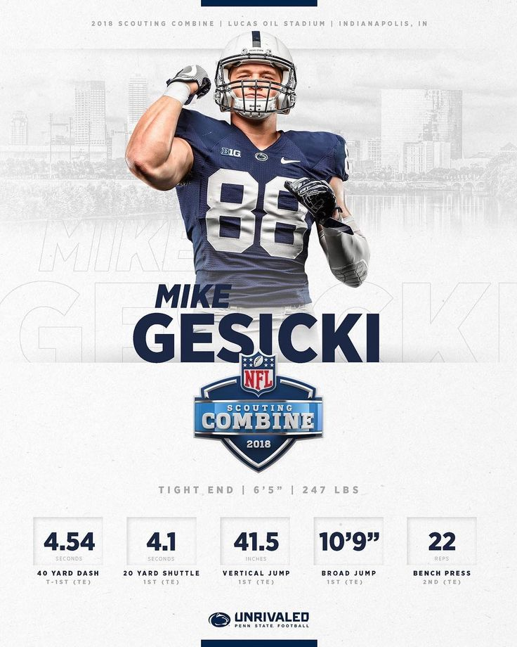 """15.1k Likes, 75 Comments - Penn State Football (@pennstatefball) on Instagram: """"TE @mikegesicki absolutely dominated the #NFLCombine. #WeAre"""""""