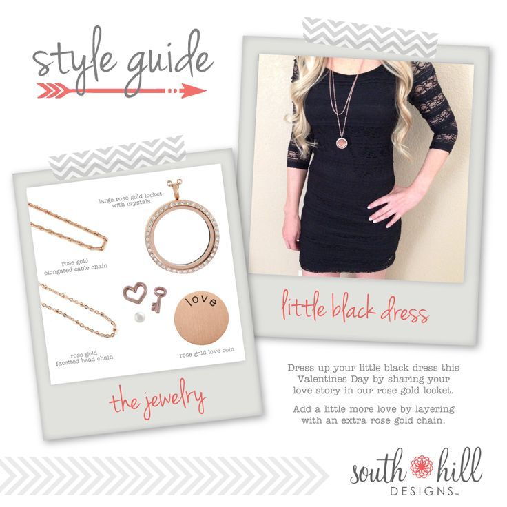 Little Black Dress. Locket. Style Guide. South Hill Designs.  https://www.southhilldesigns.com/beautifulcustomlockets