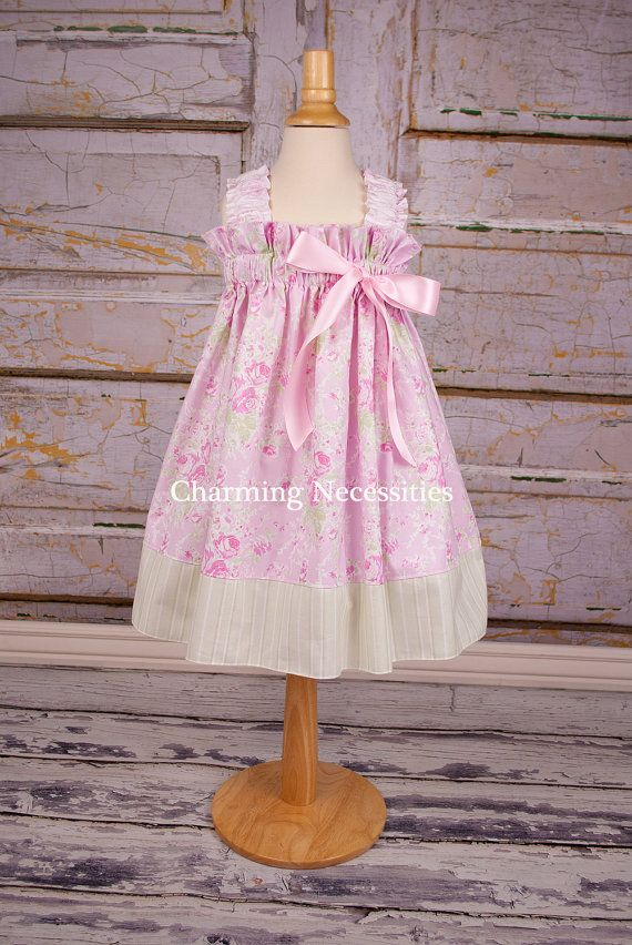 Girls Dress, Spring Ruffled Sun Dress in Heartfelt Pink by Charming Necessities Toddler Boutique Clothing Easter