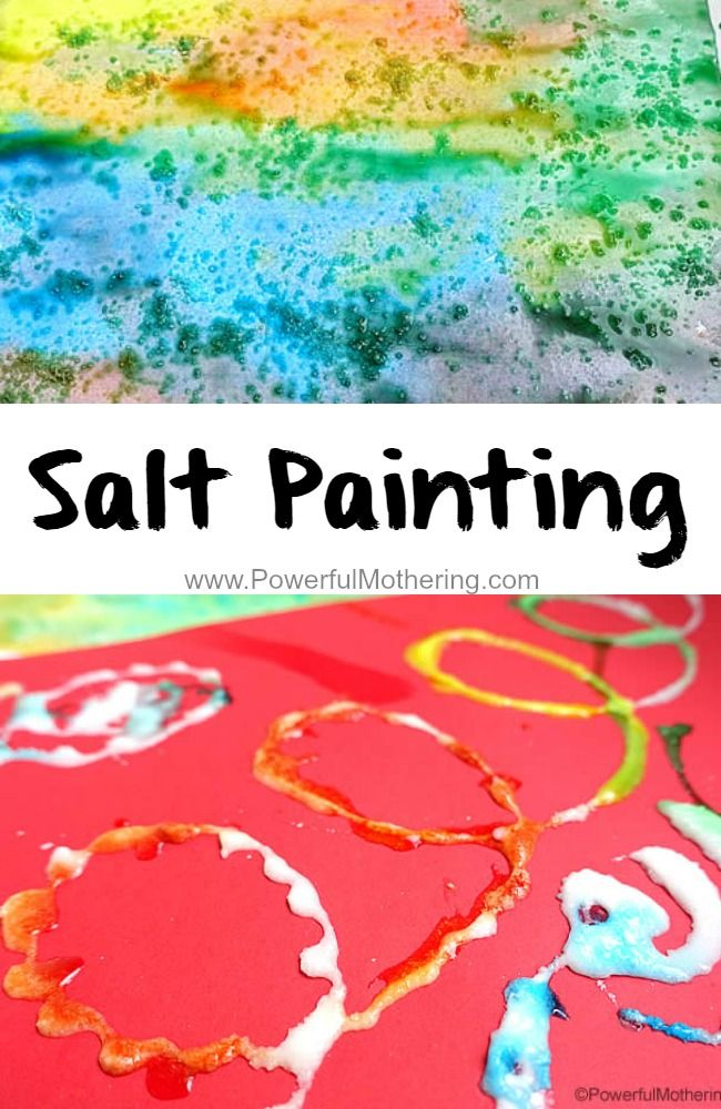 Salt Painting to include fine motor skills