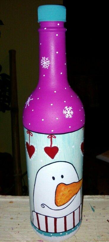 17 mejores im genes sobre botellas navidad en pinterest vinos botellas de vino iluminadas y - Botellas decoradas navidenas ...