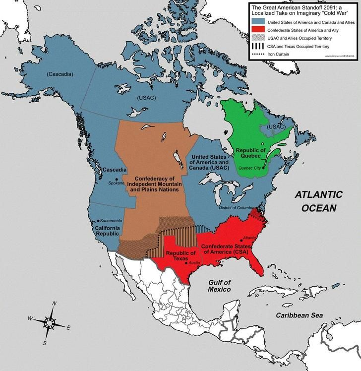 Successor States To The Us And Canada In A New Cold War