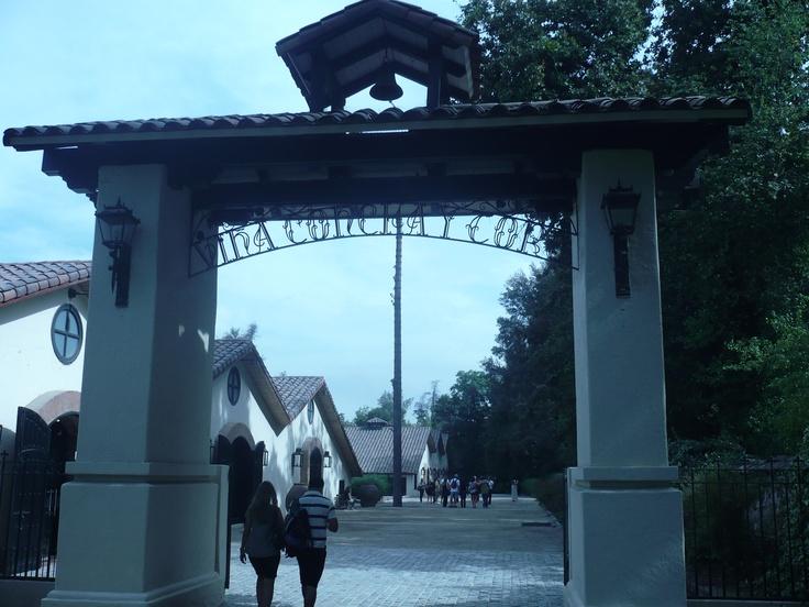 Ingreso a Viña Concha y Toro... Una entrada al Paraíso.