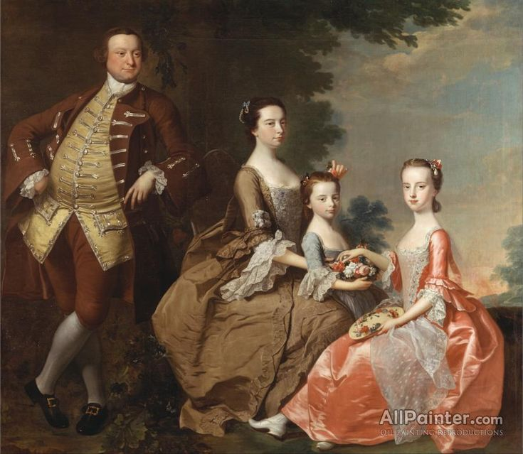Thomas Hudson,The Thistlethwayte Family oil painting reproductions for sale