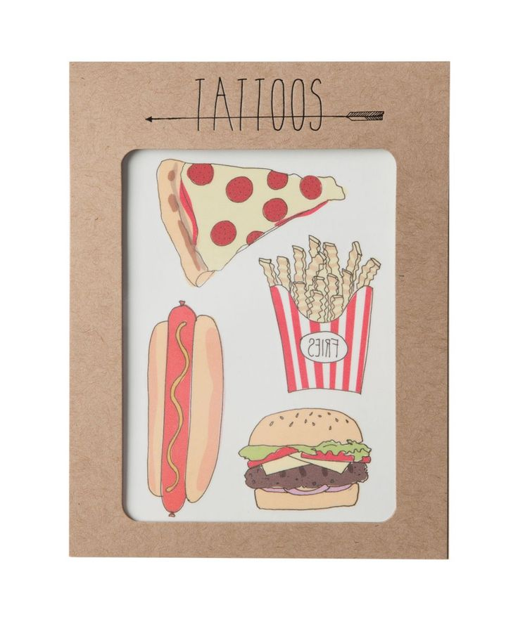 Embrace your inner rebel, at least for a couple of days with these fun fast food temporary tattoos. Great for both big kids and little kids. Different designs also available. | huntingforgeorge.com