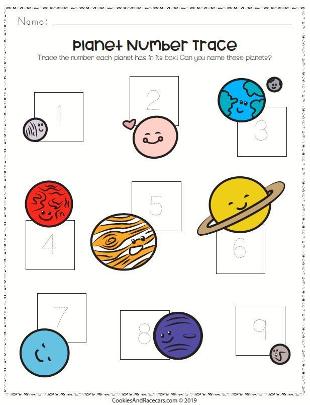 Trace The Numbers And Name The Planets On This Out Of This World Solar System Tracin Solar System Worksheets Space Activities Preschool Solar System Activities