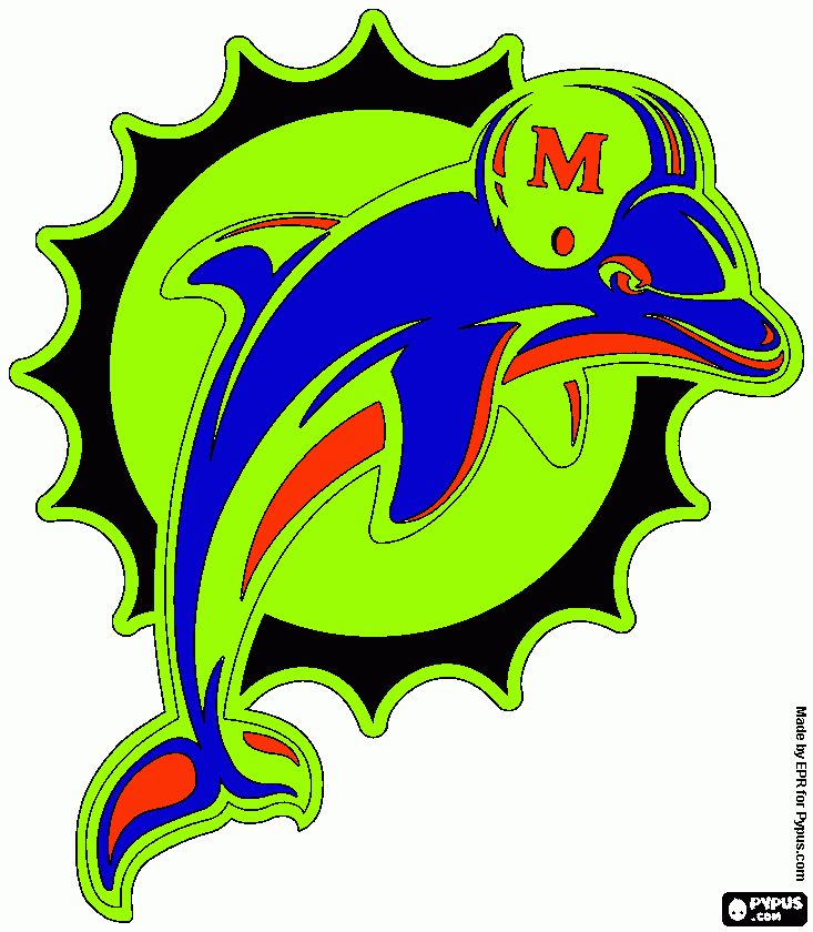 116 best images about miami dolphins football team on for Miami dolphin logo coloring pages