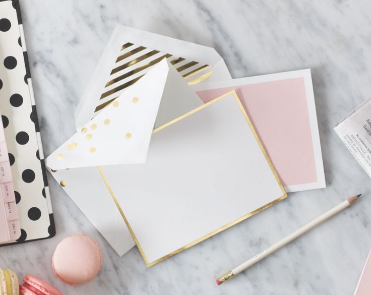 Keep in touch with an old pen pal or long-distance friend in a bright and bold fashion. #stationery #katespade