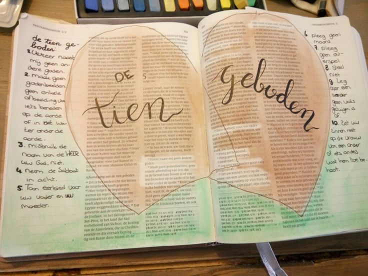Biblejournaling - de Tien Geboden - deuteronomium 5