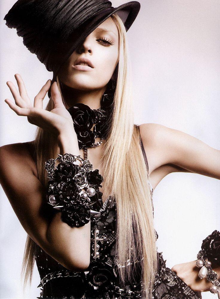 Anja Rubik  #fashion #photographyby Greg Kadel: Black Rose, Greg Kadel, Mad Hatters, Two Parties, Fashion Photography, Fashion Editorial, Black Hats, Anja Rubik, Tops Hats