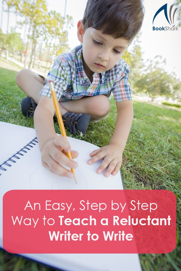 An Easy, Step by Step Way to Teach a Reluctant Writer to Write • #homeschooling • teaching writing, composition, English, language arts