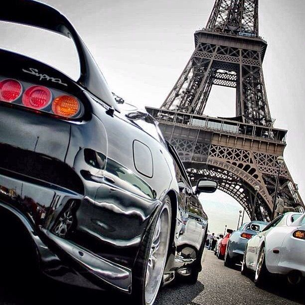 Toyota Supra In Paris Eiffel Tower