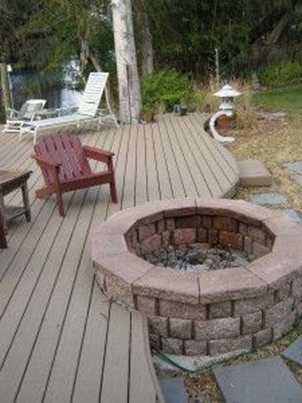 32 Wonderful Deck Designs To Make Your Home Extremely Awesome Firepit