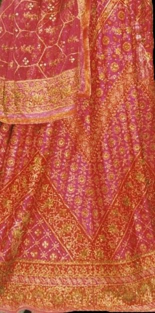 Traditional sari by Ritu Kumar. I am glad that there are still some traditional designs!