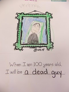 for the 100th day of school I was going to have the kids do this...love seeing the example of the things kids say :) :)