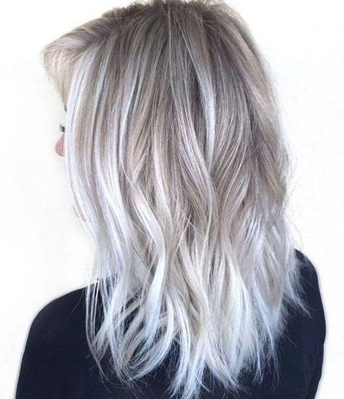 25 Best White Ombre Hair Ideas On Pinterest  White Blonde Highlights Grey