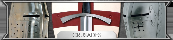 """The Crusades were a series of holy wars by western Christians to recapture the Holy Land form the muslims. The Crusades were started in 1096 and ended in the late 13th century. The term """"Crusade"""" was orginally applied to European efforts to retake from the muslims the city of Jerusalem, the place that was sacred to Christians because it was the site of the crucifixion of Jesus Christ. . (Dark Knight Armoury Inc., 2003-2012)"""