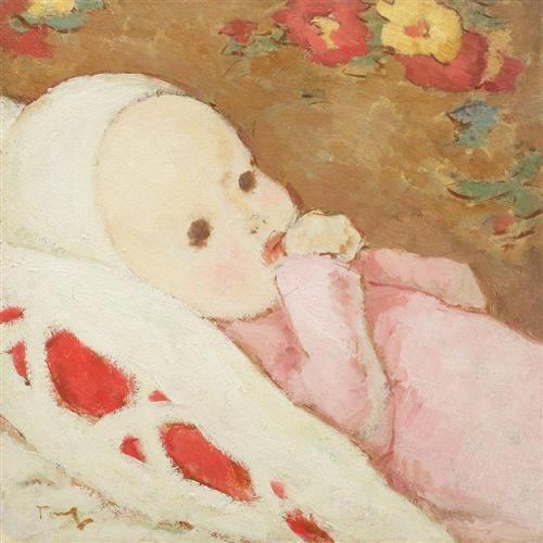 Child in Rose - Nicolae Tonitza