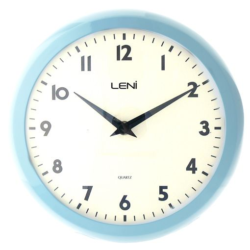 Leni Blue Retro Wall Clock