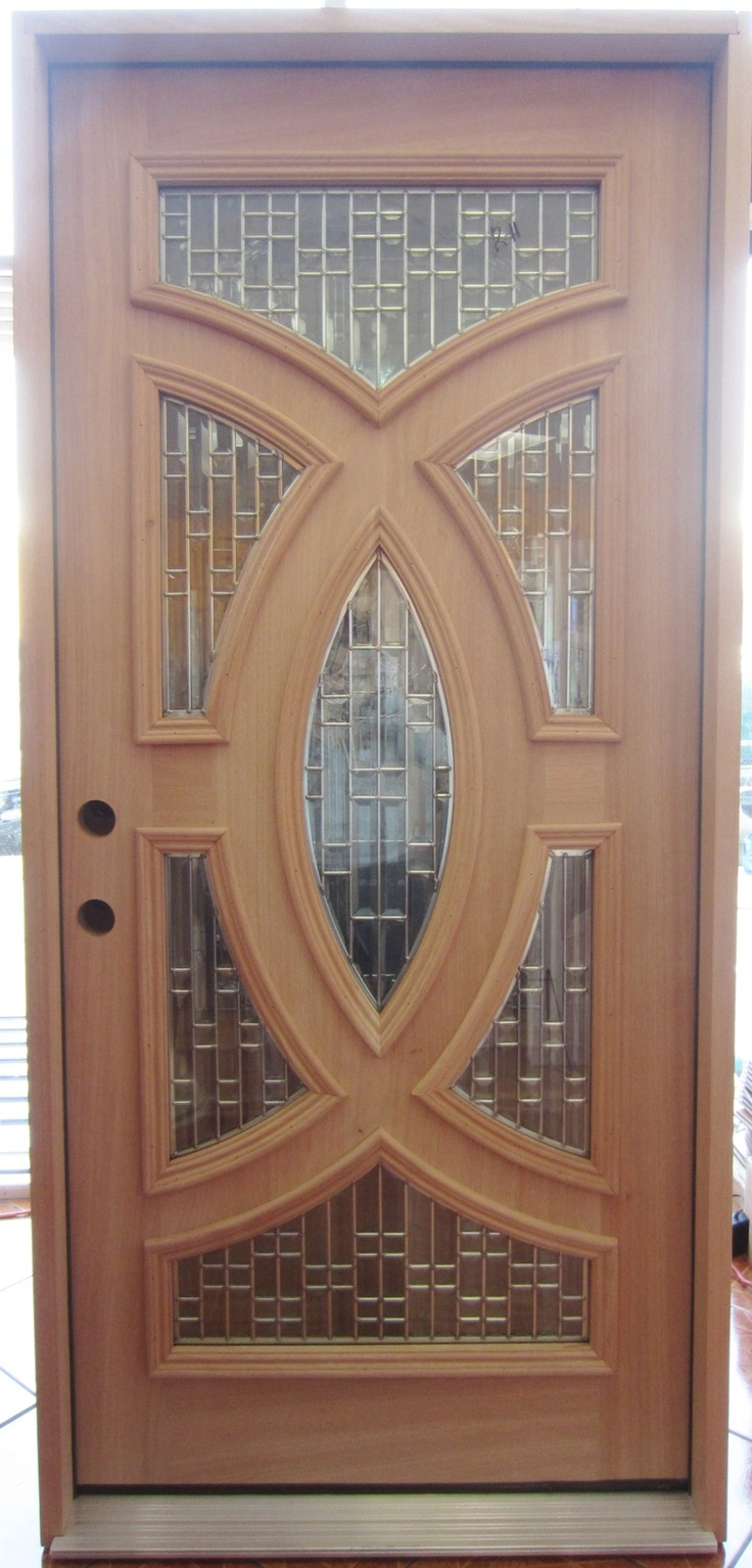 Round top pre hung mahogany doors top of the line - Pre Hung Unfinished Decorative Mahogany Wood Door