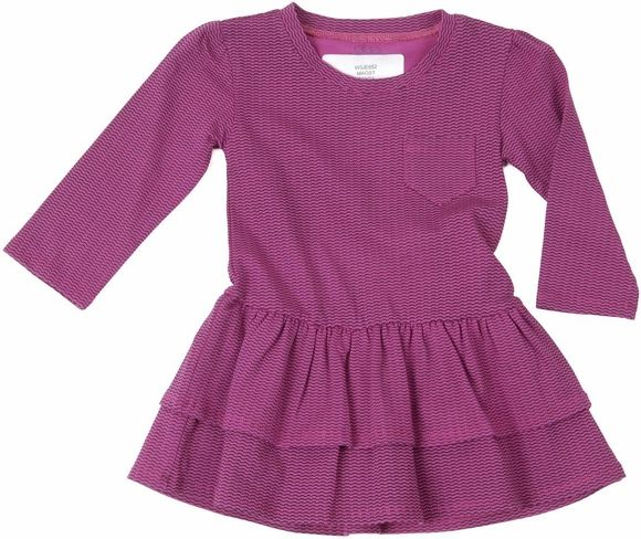egg, baby, drop waist, waist, dress, magenta, stripe, magenta stripe, ruffle, pocket, long sleeve, pink, w3je652