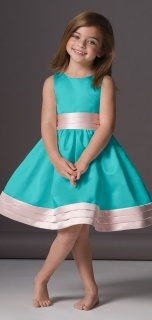 Seahorse Style 46248 Flower Girl Dress in Tiffany