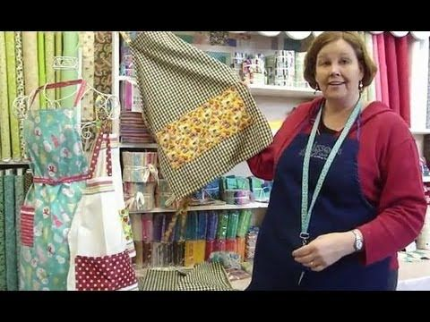 http://missouriquiltco.com - Part 1 of 2.  Jenny shows how to make a cute apron using tea towels.  To access the free pattern and a great selection of tea towel, follow the links below:    Free Tea Towel Apron Pattern:  http://quiltingtutorials.com/wp-content/uploads/2013/01/Tea-Towel-Apron-TUT.pdf    Click below to see our wide selection of beautifu...