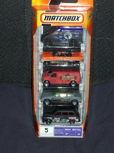 Matchbox Halloween 5 Pack Spooky Cars Mbx Metal 5 Pack 9