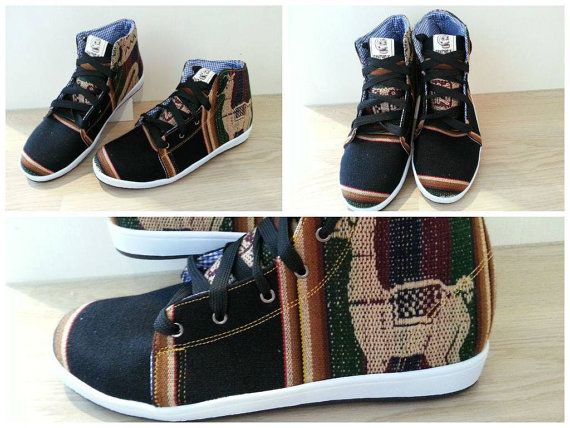 PANCHO'S FOOTWEAR  Men's Black High Top by PanchosFootwear on Etsy. Use PANCHOS20 code on Etsy for 20% off